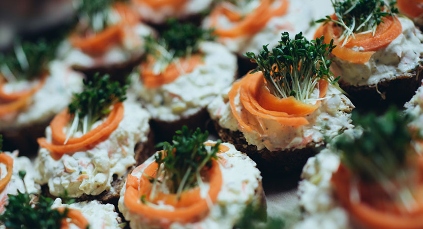 Vegetarisches Catering - Canapes