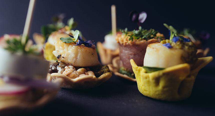 Fingerfood Catering | Jakobsmuschel Variation | © mahl&zeit